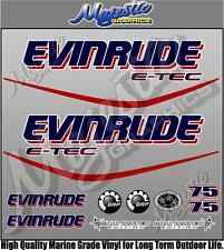 EVINRUDE ETEC - 75hp - OUTBOARD DECALS
