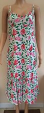 *NEW* Store Twenty One White Red Pink Floral Summer Dress Size 10