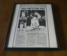 1985 ROYALS WIN WORLD SERIES FRAMED 11x14 NEWSPAPER PRINT - THIS ONE'S FOR YOU
