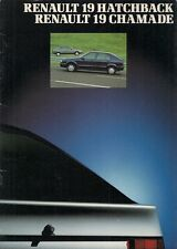 Renault 19 Hatchback & Chamade 1990-91 UK Market Sales Brochure