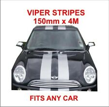 vinyl self adhesive viper stripes 150mm x 4m will fit any car