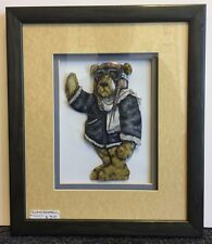 "Supa Bear Pilot Decoupage Framed Picture 13-1/4"" x 11-1/4"""