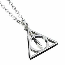 New Sterling Silver 925 Official Harry Potter Deathly Hallows Pendant Necklace