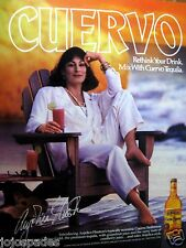 "1987 Jose Cuervo Tequila Ad-Angelica Houston-8.5 x 10.5""-Original SI-VG"