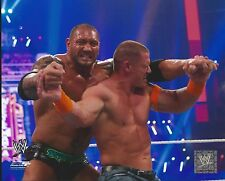 DAVE BATISTA -VS- JOHN CENA WWE WRESTLING 8X10 PHOTO NEW #651