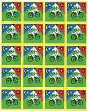 ALBERT HOFMANN BIKE RIDE - blotter art - psychedelic goa acid artwork