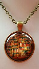 HOGWARTS LIBRARY CABOCHON NECKLACE HARRY POTTER BOOKS GOTHIC ROCKABILLY