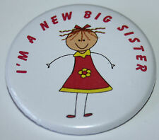 New Big Sister 50mm Pin Button Badge Ideal Ideal Gift For Older Siblings D3