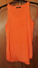 GINA TRICOT WOMEN'S  BRIGHT ORANGE  T BACK  TOP SHIRT SIZE 38 100% POLYESTER