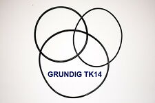 SET BELTS GRUNDIG TK14 REEL TO REEL EXTRA STRONG NEW FACTORY FRESH TK 14
