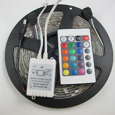 5M SMD 5050 RGB 150Leds Waterproof Flexible Led Light Strip + 24 Key IR Remote