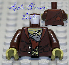 NEW Lego Dark Brown FRANKENSTEIN MINIFIG TORSO - Monster Fighter Halloween Upper