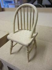 1/12 maison de poupées meubles chaise bois brut avec broche arrière fu