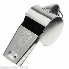 METAL REFEREE'S SPORTS WHISTLE KEYRING SCHOOL - PE - FOOTBALL - PARTY