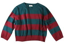 "DRIES VAN NOTEN - RED / GREEN ""STRIPED"" KNIT CROP TOP / SWEATER - S / M"
