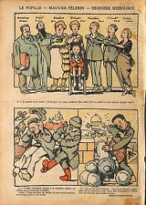Caricature Pupille de la Nation/Trosky Ernest Lafont /Vatican 1920 ILLUSTRATION