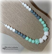 Nursing Necklace Teething Jewelry Silicone Chewelry Teether Baby Shower Gift