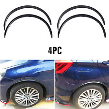 "28.7"" 4pc Carbon Fiber Car Wheel Eyebrow Arch Trim Lips Fender Flares Protector"