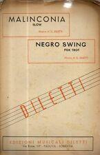 SC10 SPARTITO Malinconia -Diletti -Negro swing -Diletti