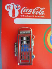 COCA COLA PIN BADGE - LONDON 2012 - TELEPHONE BOX - RUSSIA - MOC