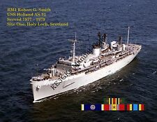 USS HOLLAND AS 32 Personalized Canvas Paper Print