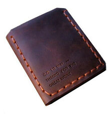 Walter Mitty Handmade Mens Vintage Genuine Leather Wallet Trifold Engrave Wallet