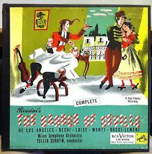 SERAFIN rossini barber of seville 3 LP VG+ LM-6104 Mono RCA US 1953 w/Book