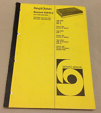 BANG OLUFSEN SERVICE MANUAL BEOCORD VHS 91.2 TYPE 4500-4502-4503 VTR/ATR RECORD