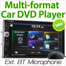 """7"""" Double 2 DIN Car DVD Player Head Unit Radio Stereo Bluetooth AUX-in USD MP3"""