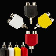 4x Y-Splitter AV Audio Video-Stecker-Konverter 1-Stecker auf 2-weiblichen Kabel