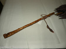 "Burl Wood Victorian Parasol, Vintage,  approx. late 1800 's, Handle Folds! 42"" L"