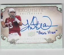 "KURT WARNER 09 UD EXQUISITE ""BIO SCRIPTS"" SIGNATURES #ed 2/5 ""REGIS HIGH""& AUTO"