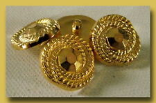 LOT 6 BOUTONS  spirale doré * 18 , 5  mm * pied *  gold button sewing 1,85 cm