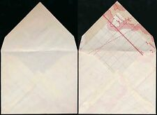 GB WAR ECONOMY ENVELOPE MADE WITH MAP from CORNWALL + CHANNEL ISLANDS