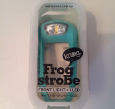 Turquoise Knog Frog Strobe LED front bike light bicycle small & bright silicone