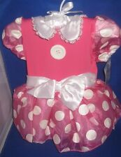 DISNEY MINNIE MOUSE BABY CHILD GIRL COSTUME DRESS SIZE 6-12 MONTHS NEW