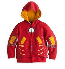 Disney Store Deluxe Iron Man Super Hero Boys Hoodie Coat Toddler Size 2 NWT!
