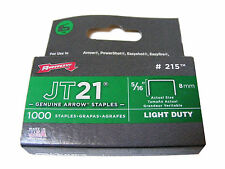 ARROW JT21 PACK OF 1000 8mm STAPLES - FOR USE WITH STAPLE GUNS - NEW
