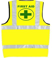 Hi Vis Vest PRINTED FIRST AID,High Visibility/ Reflective, Safety Vest Jacket