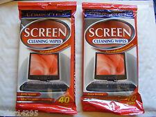 Écran nettoyage lingette 80 nettoyant pc tv lcd écran d'ordinateur portable tablette ereader