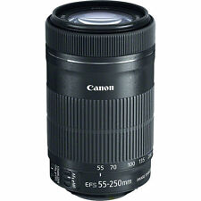 Canon EF-S 55-250mm f/4.0-5.6 STM IS Lens- FREE 2.2x Telephoto & 58mm Filter Kit
