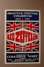 Led Zeppelin Concert Tour Poster 1969 Seattle Center Coliseum