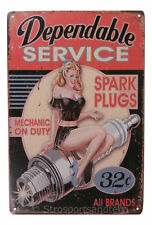 Mechanic Service Tin Sign Bar Cafe Diner Garage Wall Decor Retro Metal Vintage