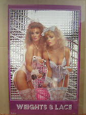vintage Weights & Lace 1986 Hot Girl man Cave car garage poster 4958