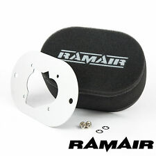 RAMAIR Carb Air Filters With Baseplate Weber 32/34 DMTL 100mm Bolt On