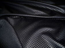 QUILTED STRETCH JERSEY-DIAMOND JACQUARD-BLACK - DRESS FABRIC-FREE P&P