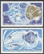 Fsat-taaf 1977 espace/satellites/antarctique/recherche/science/cartes 2v set (n23001)