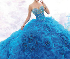 2016 New Formal Prom Party Pageant Quinceanera Dresses Ball Gown Wedding Dresses