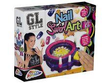 Nail Art Swirl Kit With Machine Glitter & Paint Girls Beauty Gift Idea 16-6158