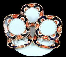 "ROYAL ALBERT HARD TO FIND 5 PIECE IMARI POPPY SQUARE 6"" BREAD & BUTTER PLATES"